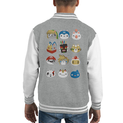 Gamer Cats Kid's Varsity Jacket by BlancaVidal - Cloud City 7