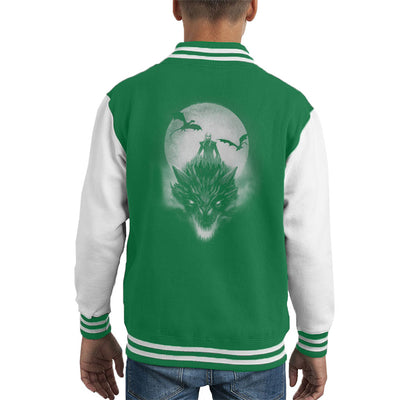 Game Of Thrones Mother Of Dragons Moonlight Kid's Varsity Jacket by BlancaVidal - Cloud City 7