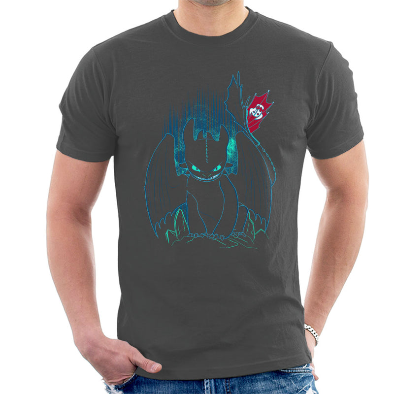 How To Train Your Dragon Shadow Night Fury Men's T-Shirt by Donnie - Cloud City 7