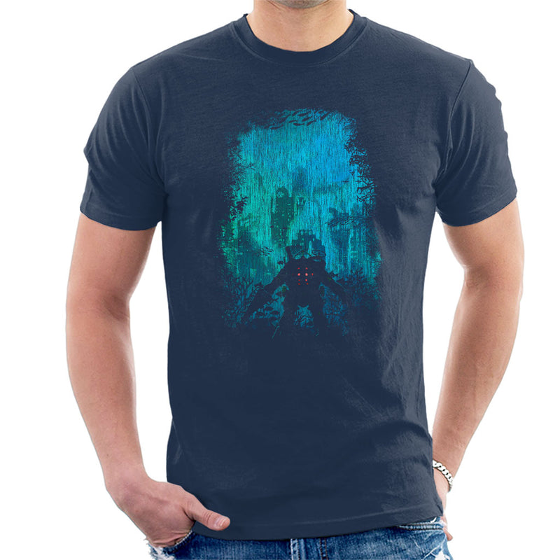 Bioshock Big Daddy Discovering Rapture Men's T-Shirt by HappyLlama - Cloud City 7