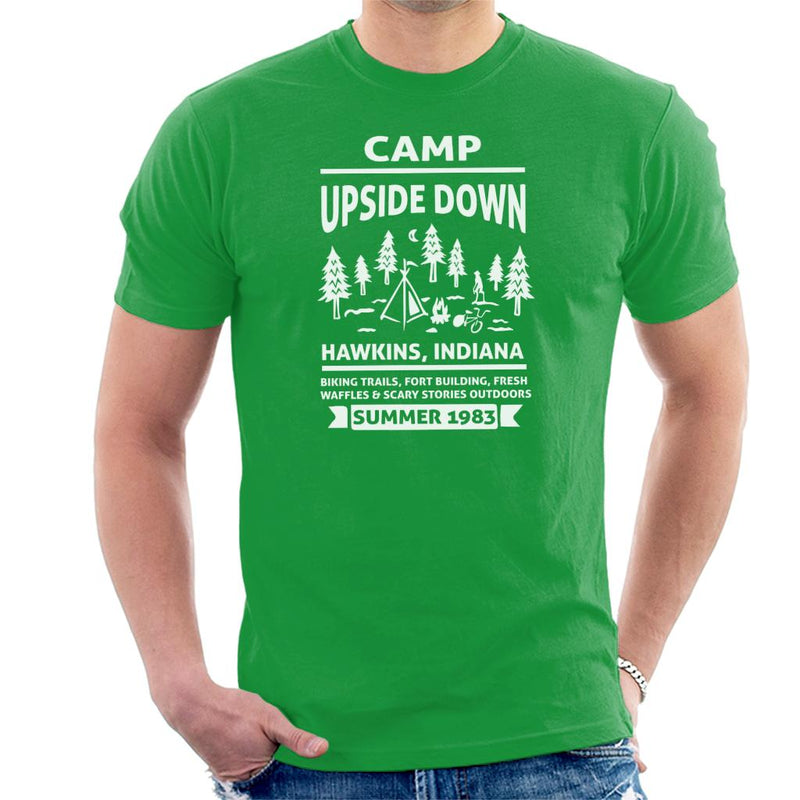 Stranger Things Camp Upside Down Indiana Men's T-Shirt by Prosthetic Mind - Cloud City 7