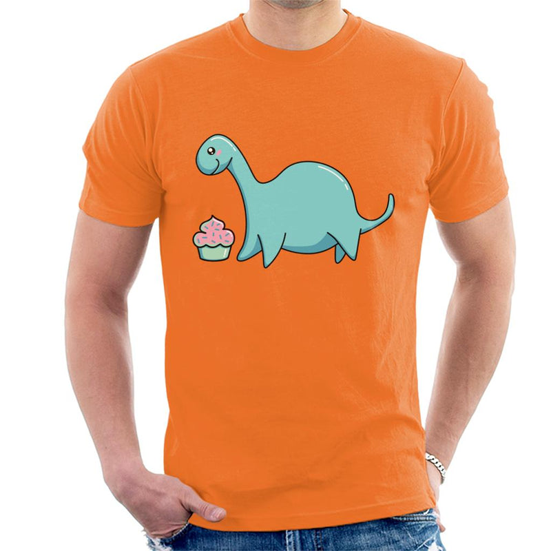 Dinosaur Happiness Cupcake Men's T-Shirt