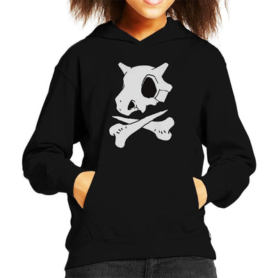 Pokemon Cubone Skull And Crossbones Kid's Hooded Sweatshirt by Carlsoncore - Cloud City 7