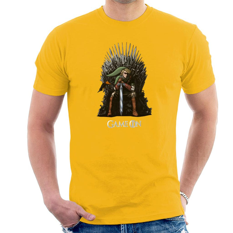 Legend Of Zelda Link Game Of Thrones Iron Throne Men's T-Shirt by Jasonyerface - Cloud City 7