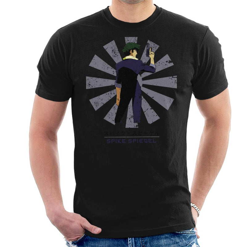 Spike Spiegel Retro Japanese Cowboy Bebop Men's T-Shirt by Nova5 - Cloud City 7