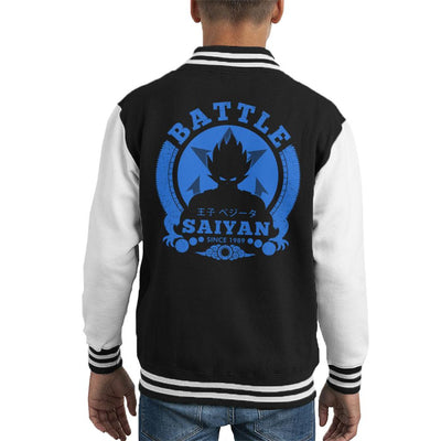 Dragon Ball Z Battle Prince Vegeta Kid's Varsity Jacket by Pigboom - Cloud City 7