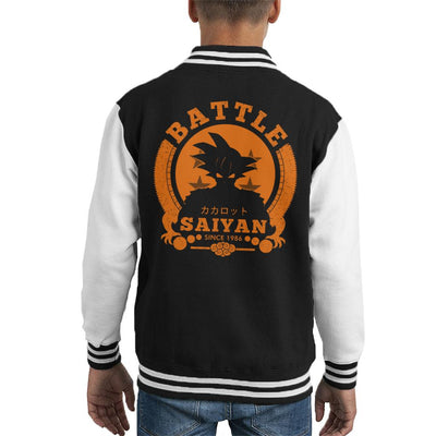 Dragon Ball Z Battle Saiyan Goku Kid's Varsity Jacket by Pigboom - Cloud City 7