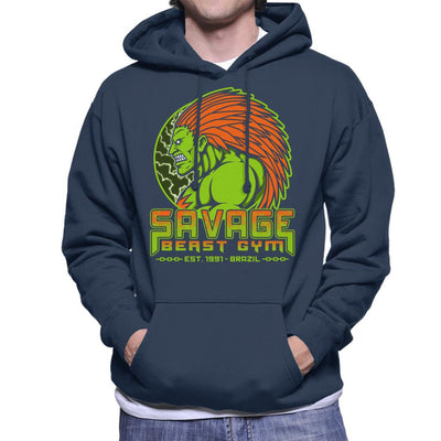 Street Fighter Savage Beast Gym Blanka Men's Hooded Sweatshirt by Pigboom - Cloud City 7