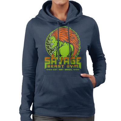 Street Fighter Savage Beast Gym Blanka Women's Hooded Sweatshirt by Pigboom - Cloud City 7