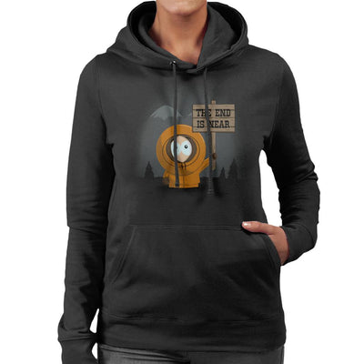 South Park Kenny The End Is Near Women's Hooded Sweatshirt by Alvaro Tembart - Cloud City 7