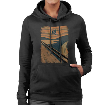 The Silence Scream Picture Mix Women's Hooded Sweatshirt by Alvaro Tembart - Cloud City 7