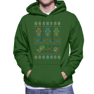 Super Mario Yoshi Knitted Jumper Pattern Men's Hooded Sweatshirt by Alvaro Tembart - Cloud City 7