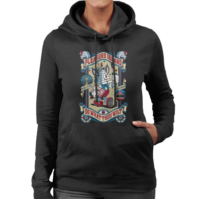 Occult Pleasure Island Do What Thou Wilt Women's Hooded Sweatshirt by Nemons - Cloud City 7