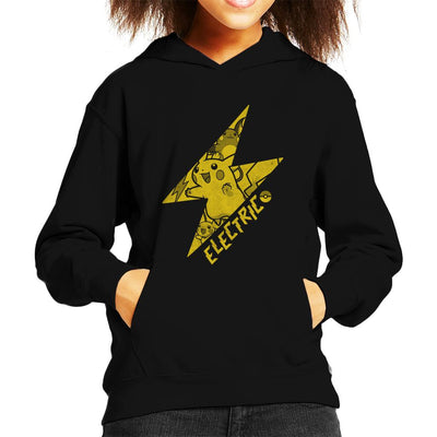 Pokemon Pikachu Electric Lightning Bolt Kid's Hooded Sweatshirt by Nemons - Cloud City 7