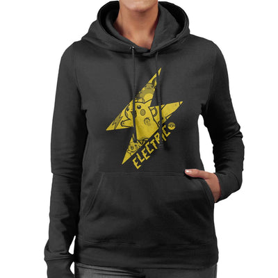 Pokemon Pikachu Electric Lightning Bolt Women's Hooded Sweatshirt by Nemons - Cloud City 7