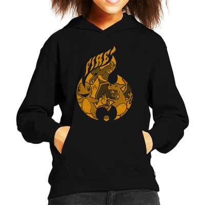 Pokemon Fire Starters Flame Kid's Hooded Sweatshirt by Nemons - Cloud City 7