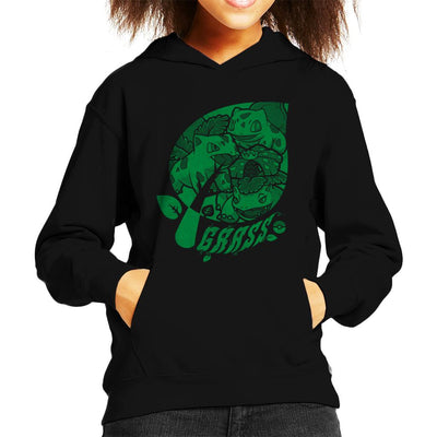 Pokemon Grass Starters Leaf Kid's Hooded Sweatshirt by Nemons - Cloud City 7