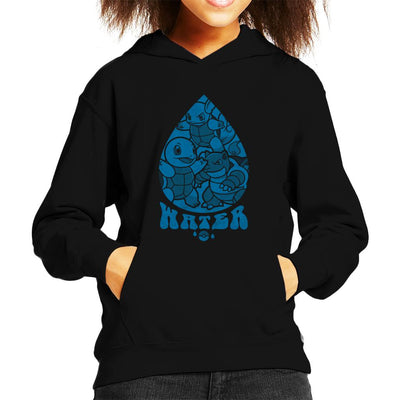 Pokemon Water Starters Droplet Kid's Hooded Sweatshirt by Nemons - Cloud City 7