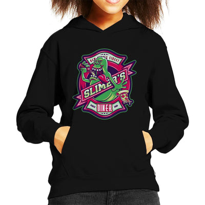 Ghostbusters Slimers Diner Kid's Hooded Sweatshirt by Nemons - Cloud City 7