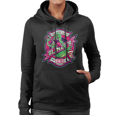 Ghostbusters Slimers Diner Women's Hooded Sweatshirt by Nemons - Cloud City 7