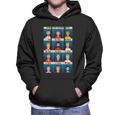 World Cup 2018 Russia Star Players Pixel Men's Hooded Sweatshirt by Pixel Faces - Cloud City 7