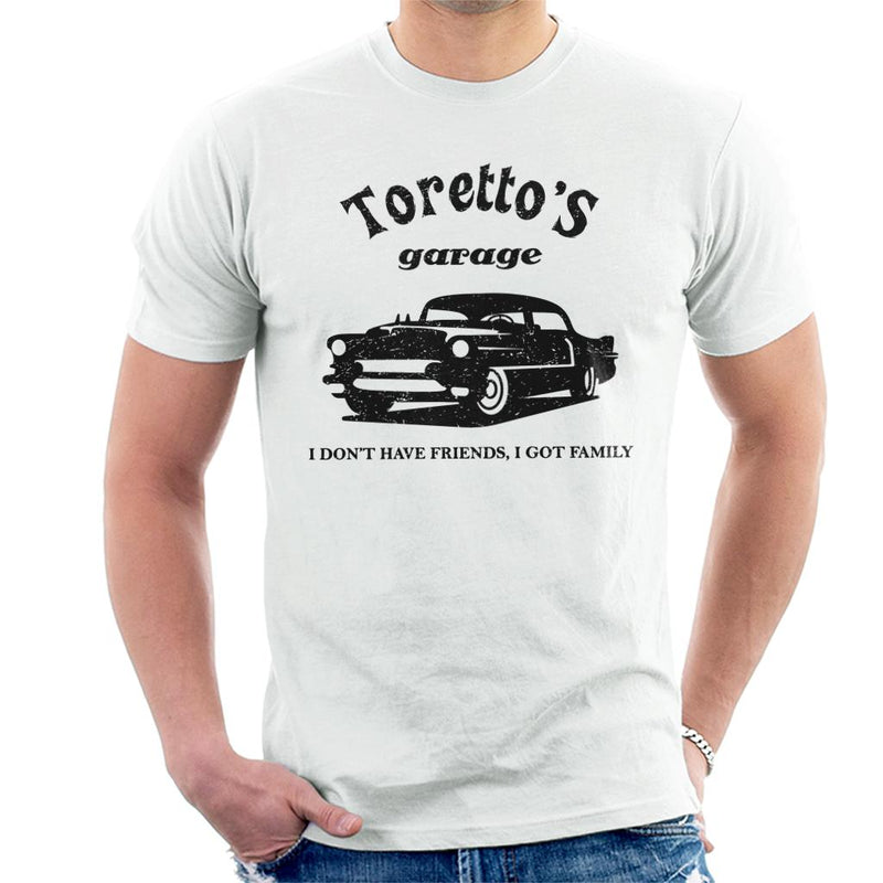 The Fast And The Furious Torettos Garage Men's T-Shirt by Yolanda Martinez - Cloud City 7