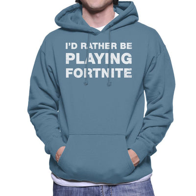 Id Rather Be Playing Fortnite Men's Hooded Sweatshirt by Cattoc C - Cloud City 7