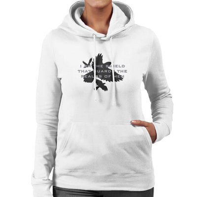 Game Of Thrones Shield That Guards The Realm Women's Hooded Sweatshirt by Cattoc C - Cloud City 7