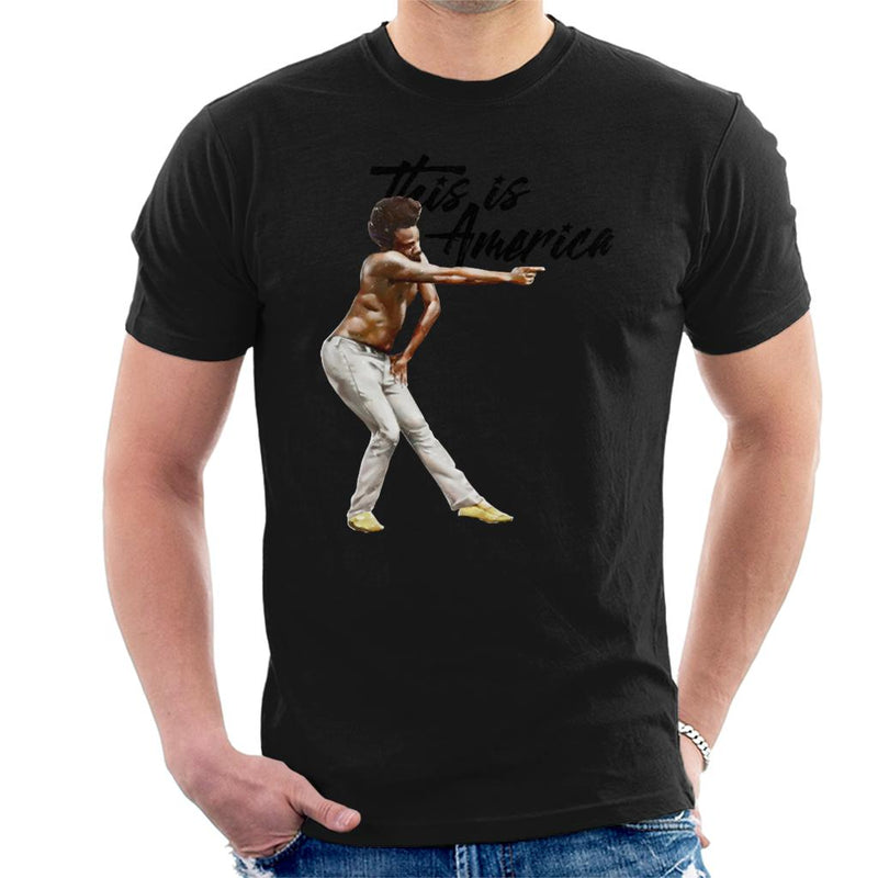 Childish Gambino Black Text Shooting This Is America Men's T-Shirt by Agaena - Cloud City 7