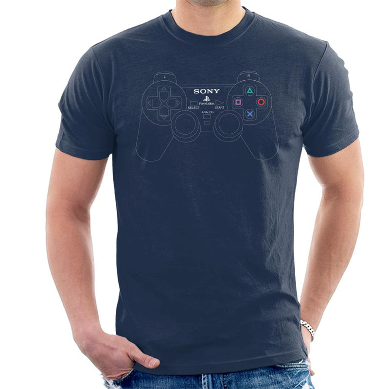 Sony PlayStation 2 Dual Analog Gaming Controller Men's T-Shirt by Cletus Courgetti - Cloud City 7
