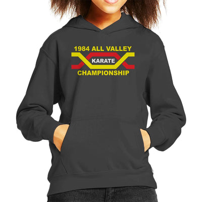 1984 All Valley Karate Kid Championship Kid's Hooded Sweatshirt by Stroodle Doodle - Cloud City 7