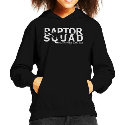 Light Text Raptor Squad Jurassic World Kid's Hooded Sweatshirt by Carlsoncore - Cloud City 7