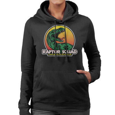 Roaring Raptor Squad Jurassic World Women's Hooded Sweatshirt by Carlsoncore - Cloud City 7