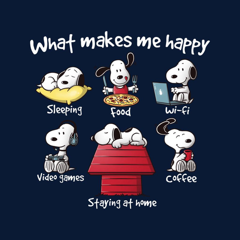 Snoopy Staying At Home Makes Me Happy Women's Sweatshirt by NemiMakeit - Cloud City 7