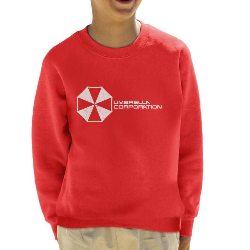 Resident Evil Umbrella Corporation Logo Kid's Sweatshirt by Prosthetic Mind - Cloud City 7