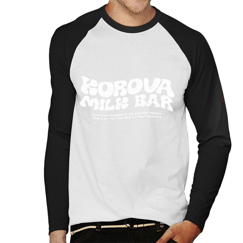 58b5c6ac A Clockwork Orange Korova Milk Bar Logo Men's Baseball Long Sleeved T-Shirt  by Prosthetic ...