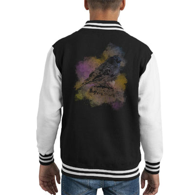 Colour Cloud Bird Kid's Varsity Jacket by Retro Freak - Cloud City 7