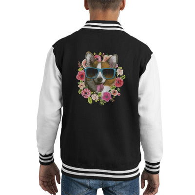 Btch Please Im Fabulous Corgi Kid's Varsity Jacket by Retro Freak - Cloud City 7