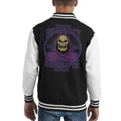 Eternia University Skeletor Masters Of The Universe Kid's Varsity Jacket by Retro Freak - Cloud City 7