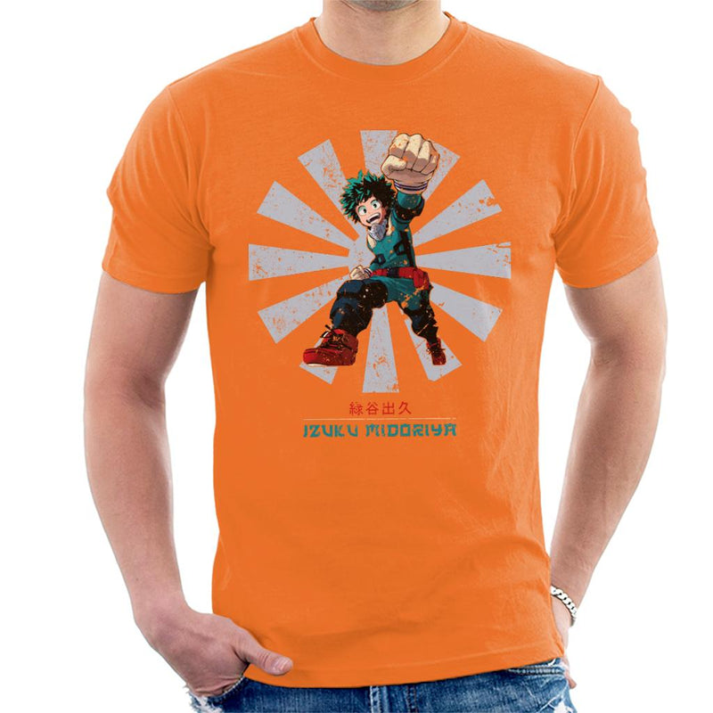 My Hero Academia Izuku Midoriya Retro Japanese Men's T-Shirt by Nova5 - Cloud City 7
