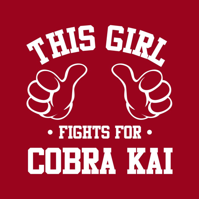 This Girl Fights For Cobra Kai Men's T-Shirt by Spudhead - Cloud City 7