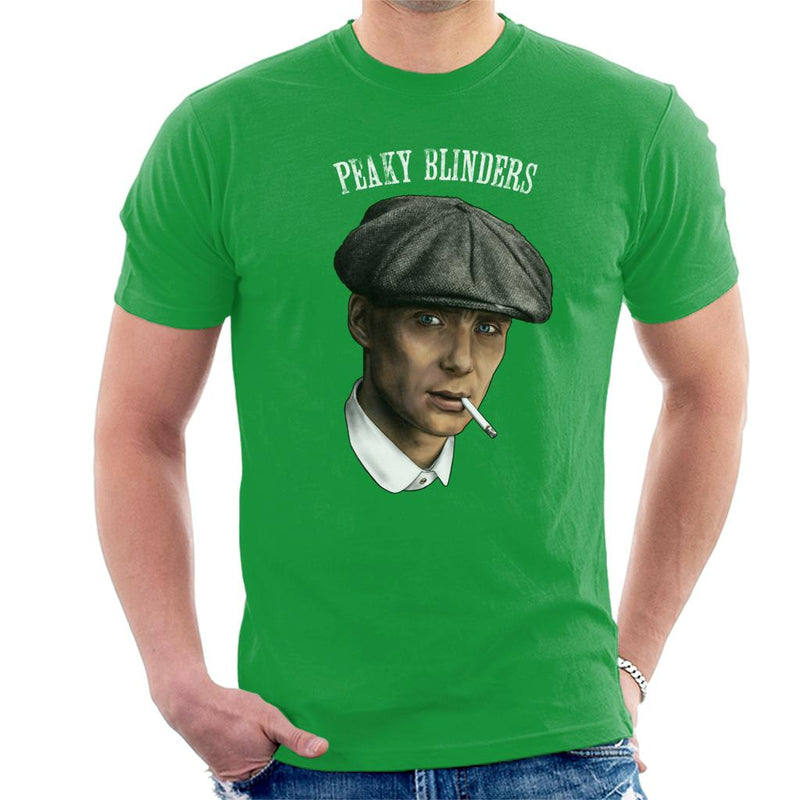 Peaky Blinders Tommy Shelby Portrait Men's T-Shirt by Sam Green - Cloud City 7