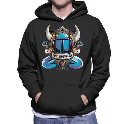 Shovel Knight for Shovelry Men's Hooded Sweatshirt by Typhoonic - Cloud City 7
