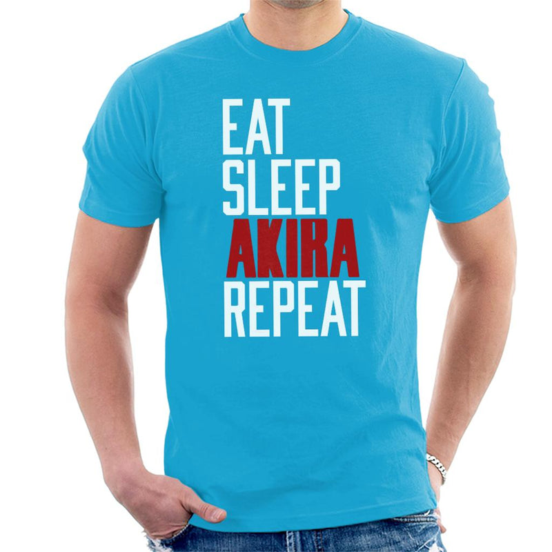 Eat Sleep Akira Repeat Men's T-Shirt by Prosthetic Mind - Cloud City 7