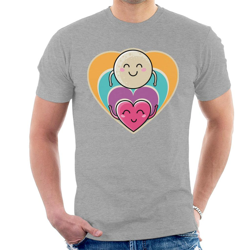 Love To The Moon And Back Men's T-Shirt by Flaming Imp - Cloud City 7