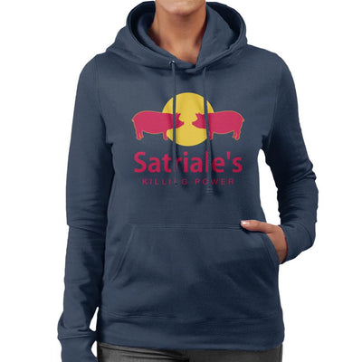 The Sopranos Satriales Killing Power Women's Hooded Sweatshirt by Karlangas - Cloud City 7