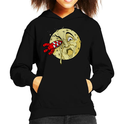 A Trip To The Moon Rocket Kid's Hooded Sweatshirt by Karlangas - Cloud City 7