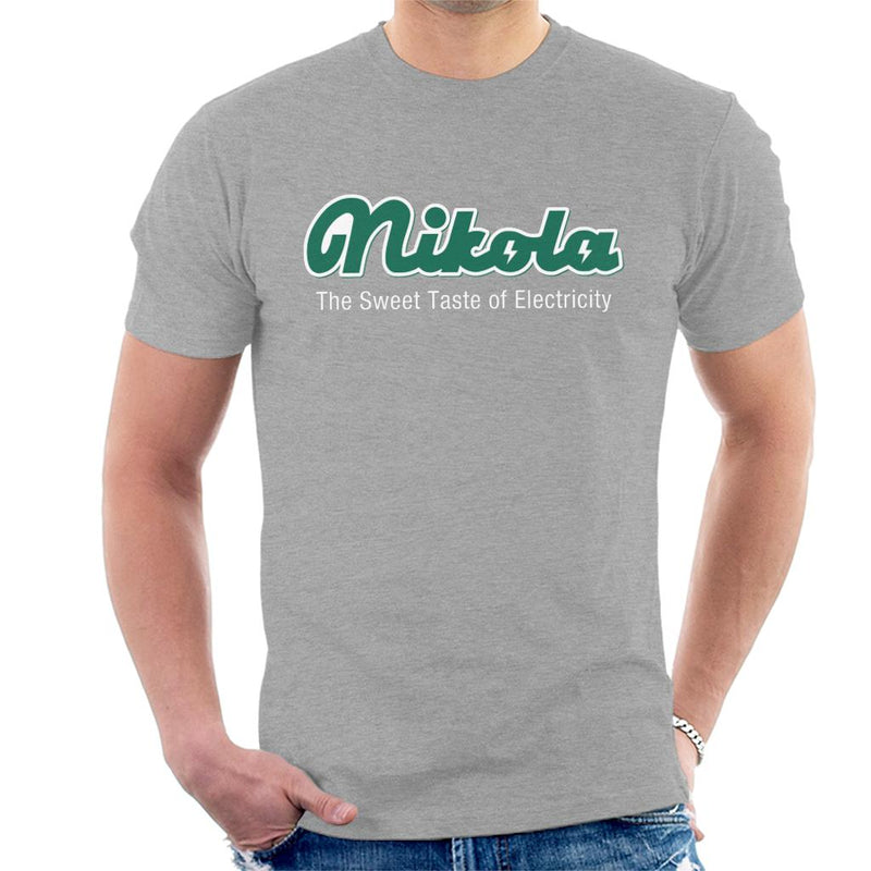 Nikola Sweet Taste Of Electricity Men's T-Shirt by Karlangas - Cloud City 7