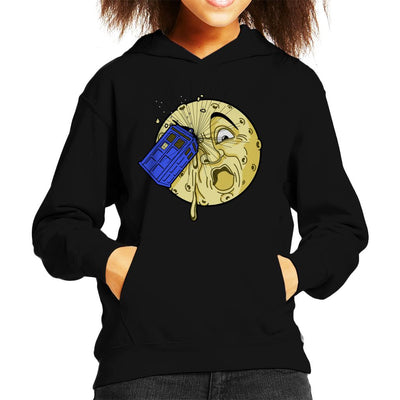 Doctor Who Time Travel To The Moon Kid's Hooded Sweatshirt by Karlangas - Cloud City 7