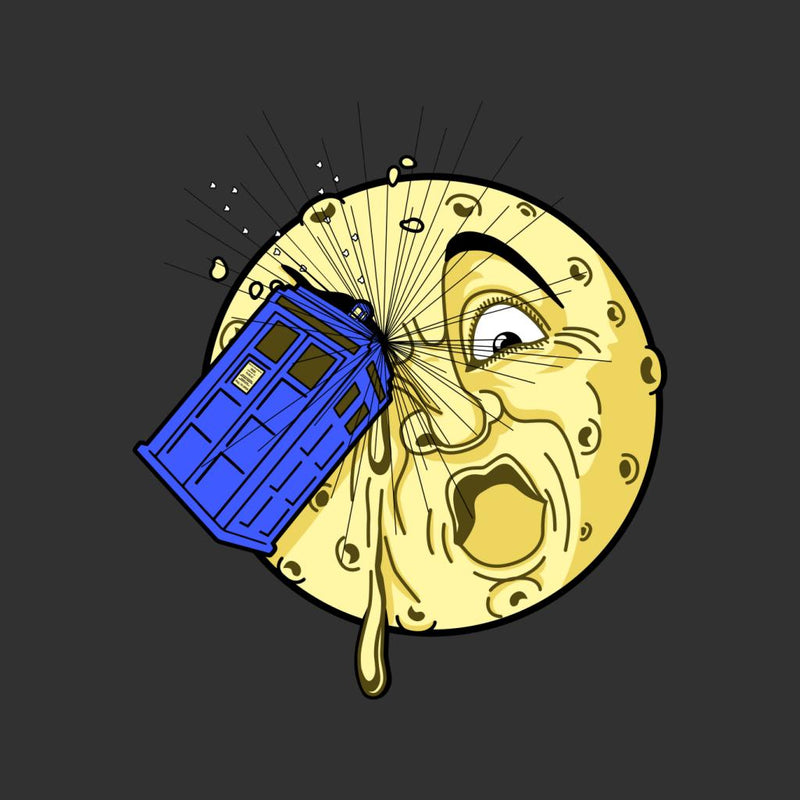 Doctor Who Time Travel To The Moon Men's T-Shirt by Karlangas - Cloud City 7